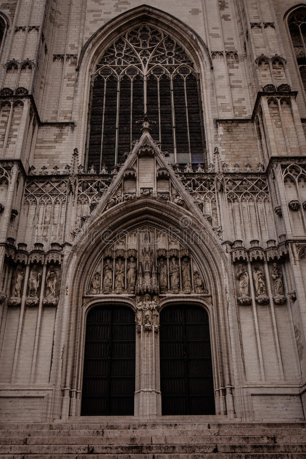 大教堂gudula迈克尔st 免版税库存图片