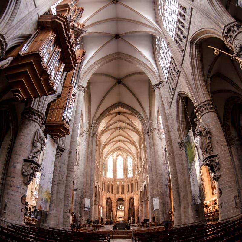 大教堂gudula迈克尔st 图库摄影
