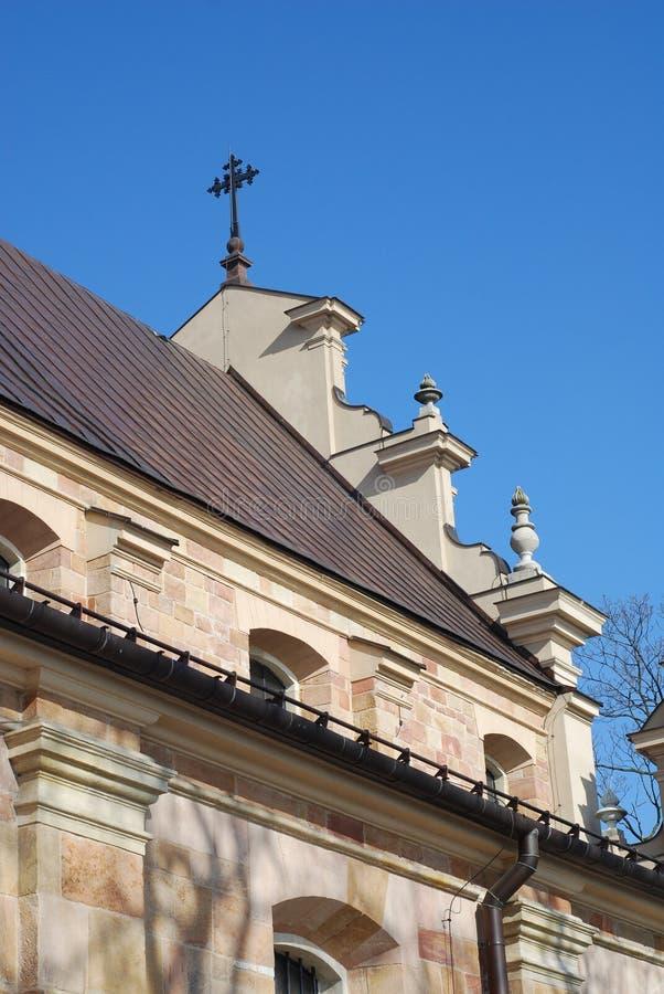 大教堂kielce波兰 免版税图库摄影