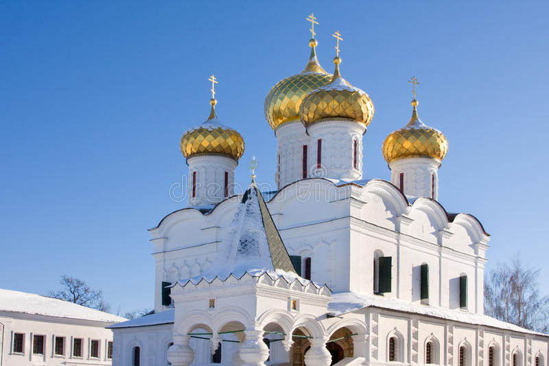 大教堂kostroma俄国三位一体 免版税图库摄影