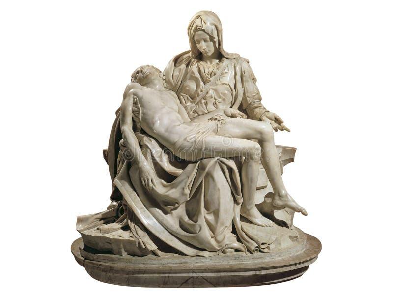 大教堂la彼得圣母怜子图圣徒梵蒂冈 库存图片