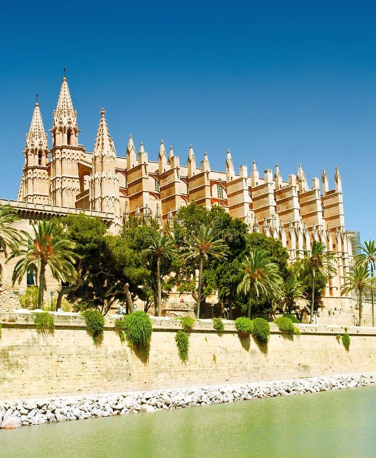 大教堂La Seu在帕尔马 免版税库存图片