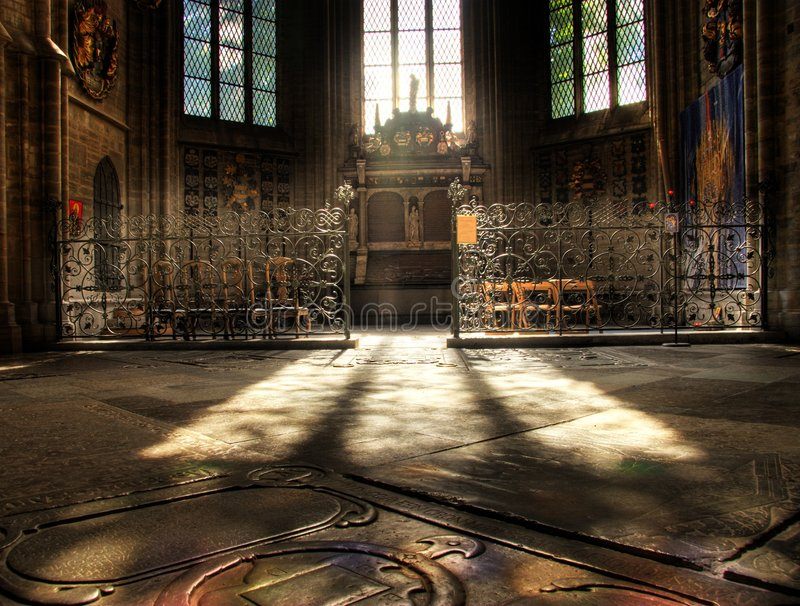 大教堂linkoping的状态 免版税图库摄影