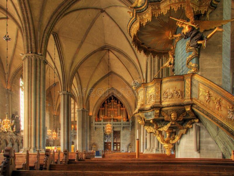 大教堂linkoping的状态 免版税库存图片