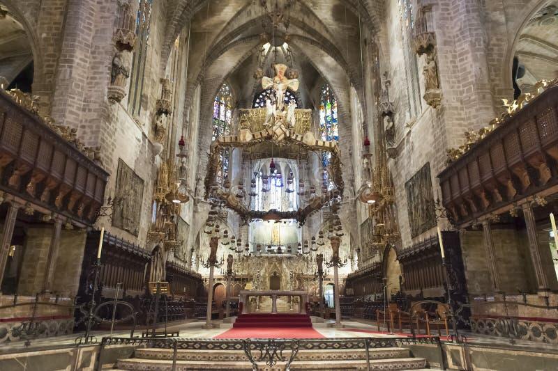 大教堂Palma de Majorca,西班牙 库存照片