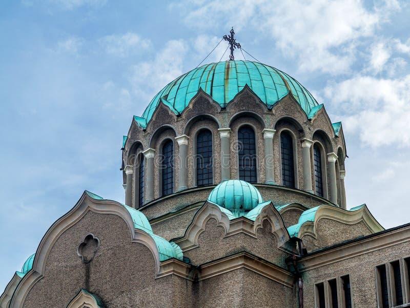 大教堂Rozhdestvo Bogorodichno -保加利亚大特尔诺沃 库存照片
