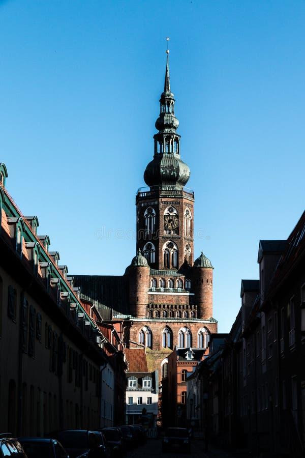 大教堂St尼古拉在格赖夫斯瓦尔德 库存照片