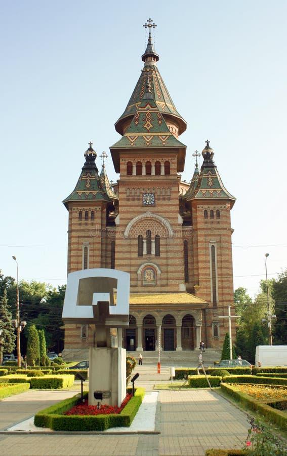 大教堂timisoara 免版税库存照片