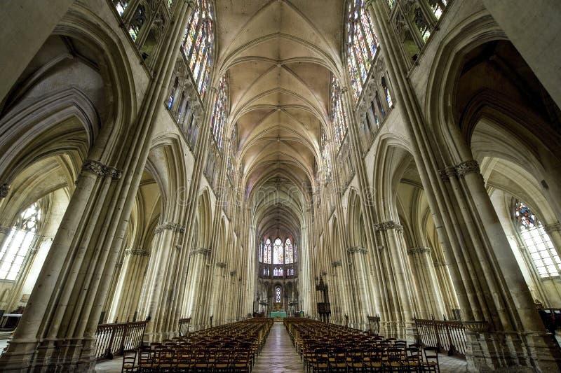 大教堂troyes 库存照片