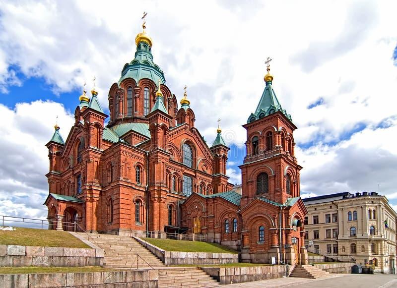 大教堂uspensky的赫尔辛基 图库摄影