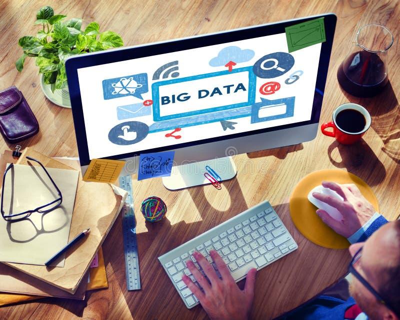 大数据信息存贮系统服务器技术概念 库存图片