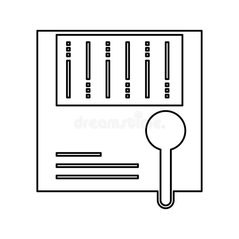 大数据分析象 网络安全的元素流动概念和网应用程序象的 网站设计的稀薄的线象和 向量例证