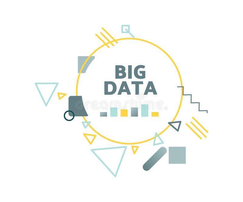 大数据向量例证概念 向量例证