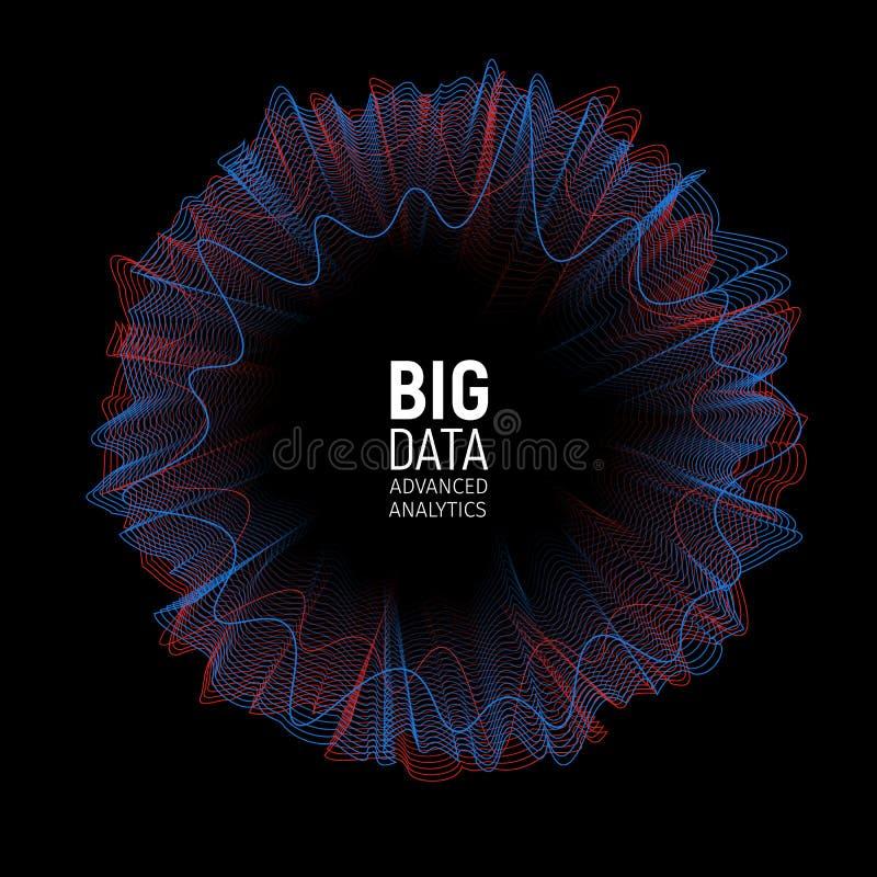 大数据向量形象化例证 未来派预先信息逻辑分析方法摘要Infographic设计 向量例证