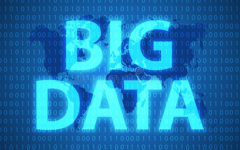 大数据和营销概念 网横幅和创造性的过程的项目 大数据形象化未来派infographic 皇族释放例证
