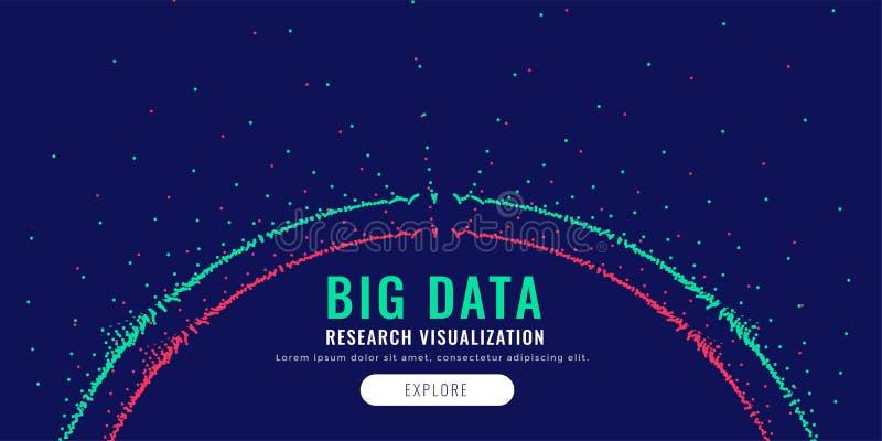 大数据微粒滤网图以圆形式 向量例证