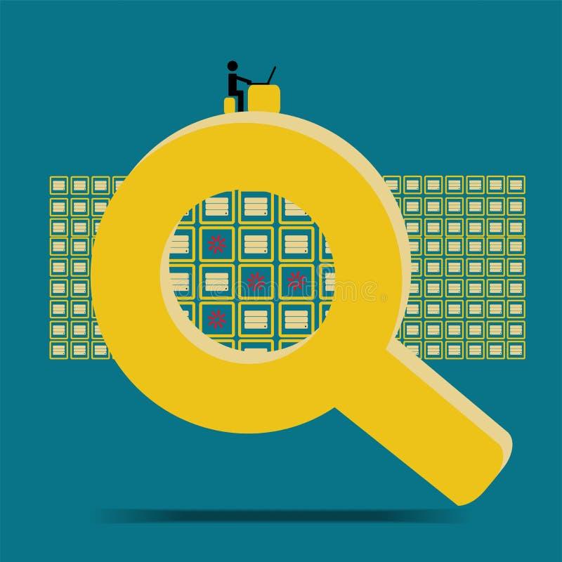 大数据技术数据失踪 库存例证