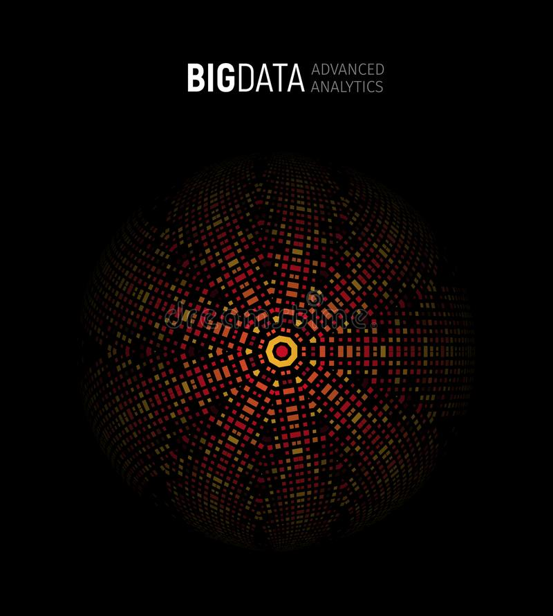大数据推进了分析几何圆抽象例证,逻辑分析方法背景 信息技术, ai 向量例证