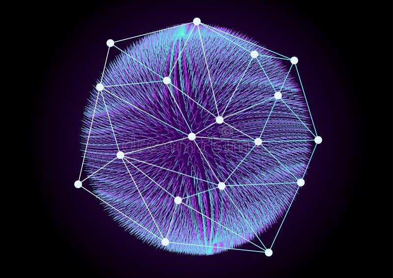大数据摘要背景传染媒介例证 概念信息技术万维网宽世界 未来网际空间 分数维元素 向量例证