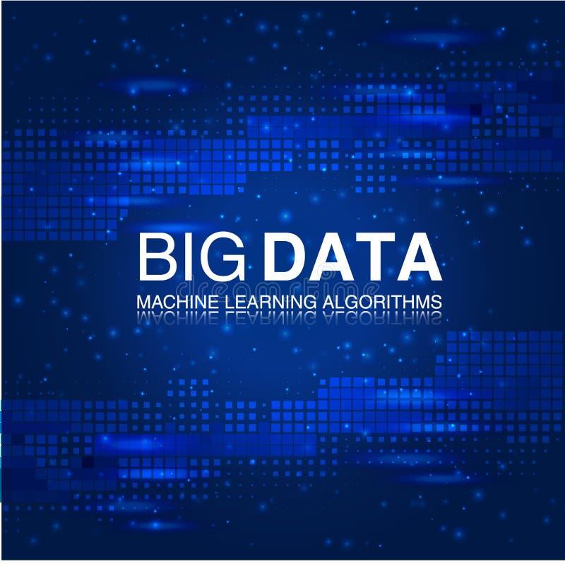 大数据机器学习算法 分析科学或技术背景 向量例证