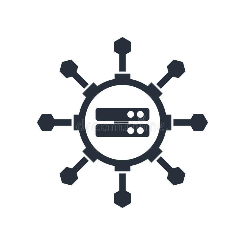 大数据科学家在白色背景隔绝的传染媒介标志和标志,大数据科学家商标概念 皇族释放例证