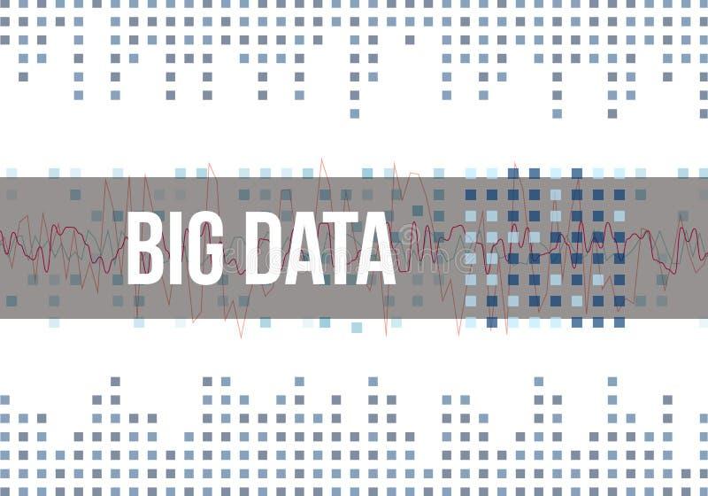 大数据算法 对信息Minimalistic设计的分析 科学,技术淡色的背景 向量 库存例证
