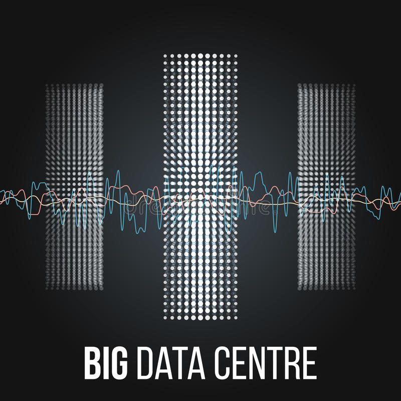 大数据算法 对信息Minimalistic Infographics设计的分析 科学,技术背景 向量 向量例证