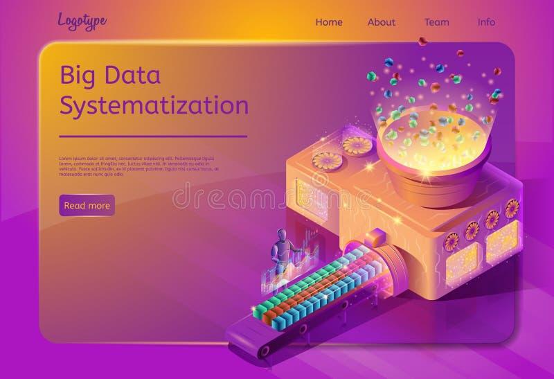 大数据系统化服务网页模板 皇族释放例证