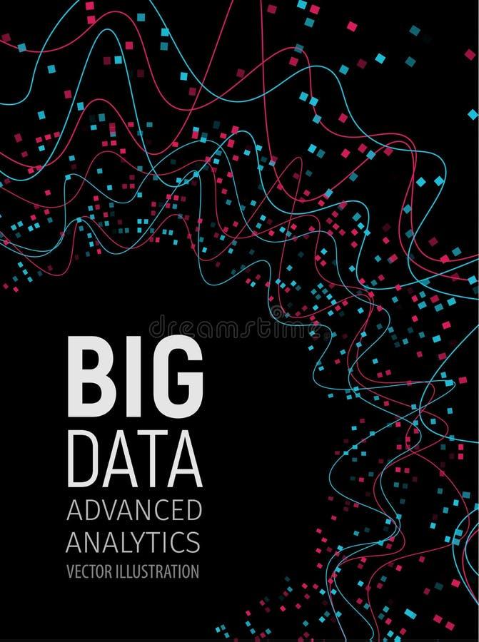 大数据视觉能量分数维 infographic技术的网络 信息逻辑分析方法设计 也corel凹道例证向量 库存例证