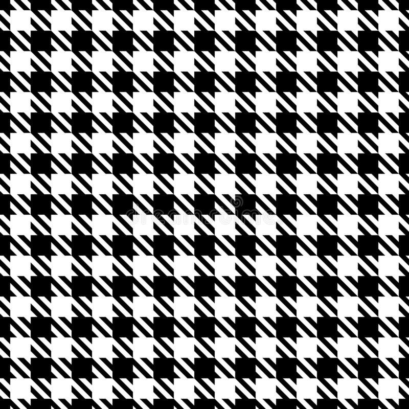大无缝的图表Houndstooth仿造黑白 向量例证