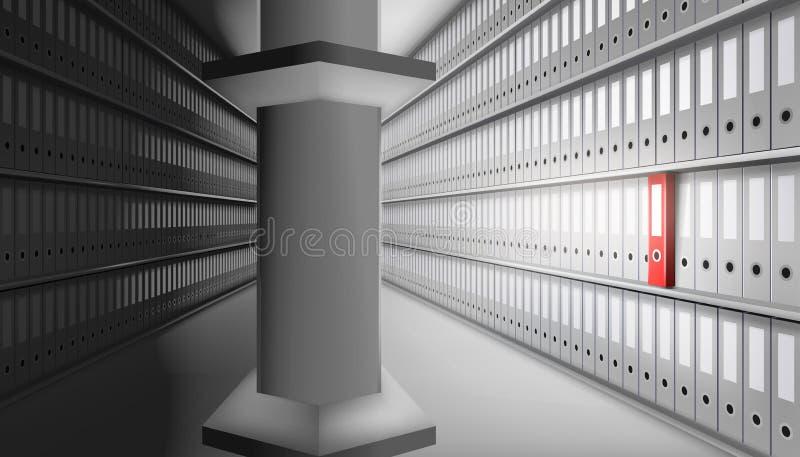 大日期仓库 也corel凹道例证向量 向量例证