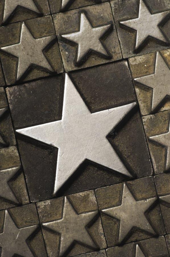 大星形垂直 免版税库存照片