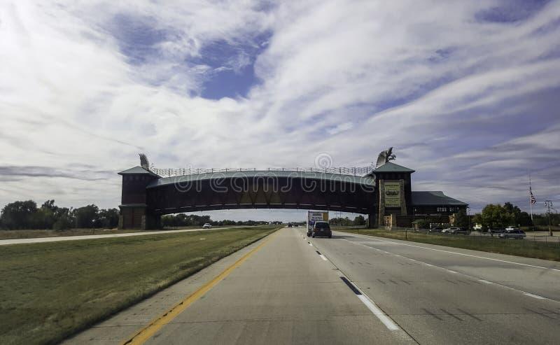 大普拉特河路拱道纪念碑 免版税库存图片