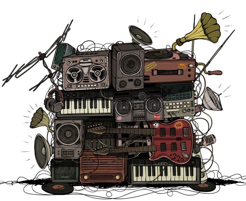 大普遍音乐中心 上色 库存例证
