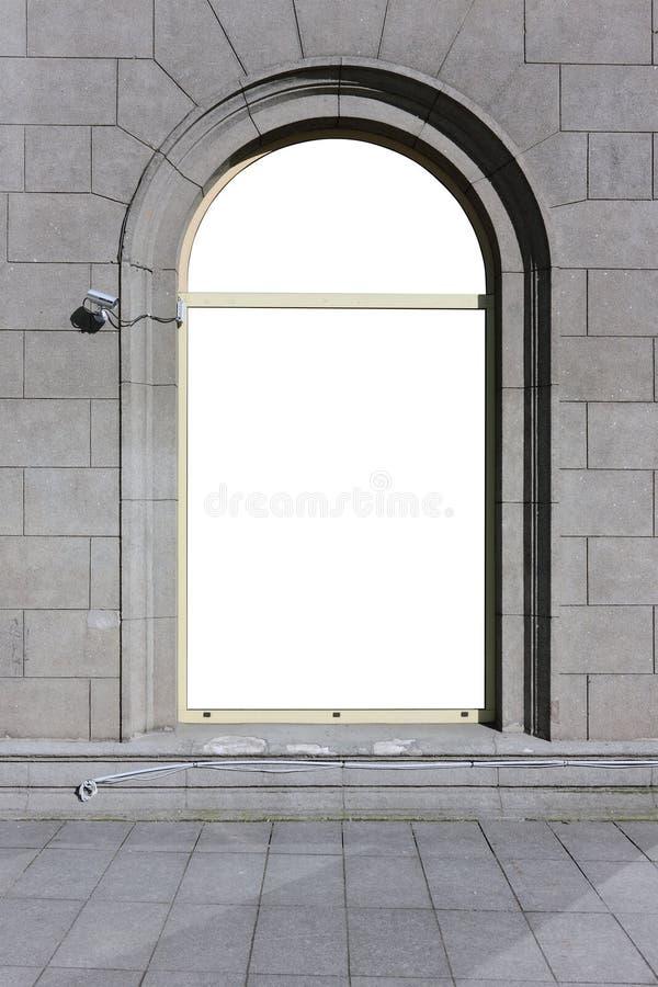 大曲拱窗口 免版税图库摄影