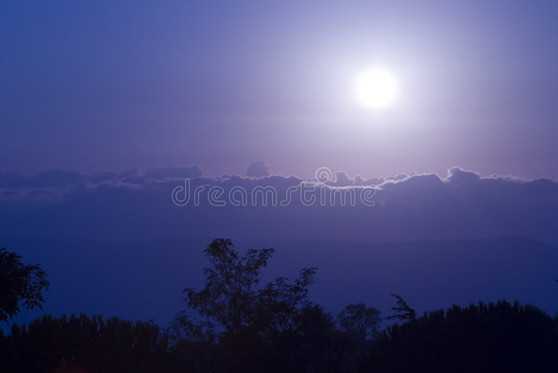 大月亮 图库摄影