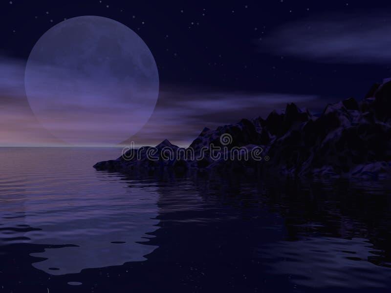 大月亮 库存图片
