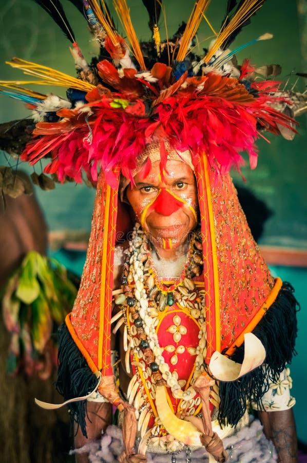 大服装在巴布亚新几内亚 免版税库存图片