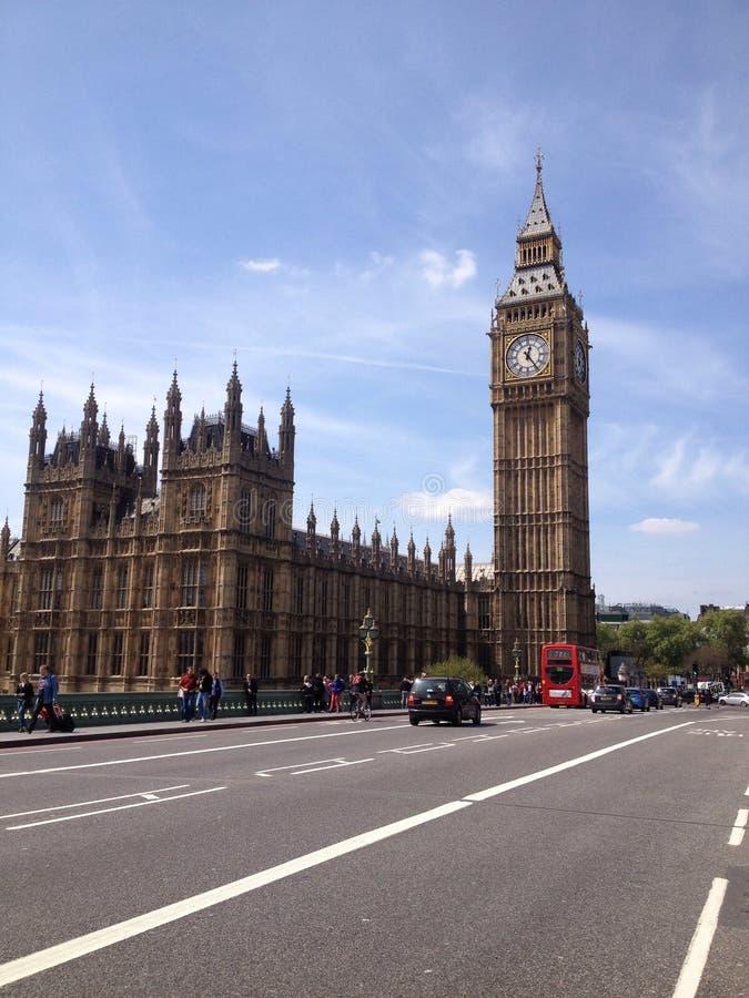 大本钟和威斯敏斯特伦敦英国 免版税库存照片
