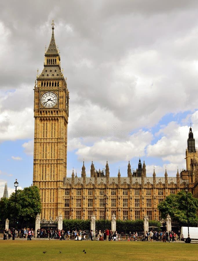 大本钟和英国议会 图库摄影