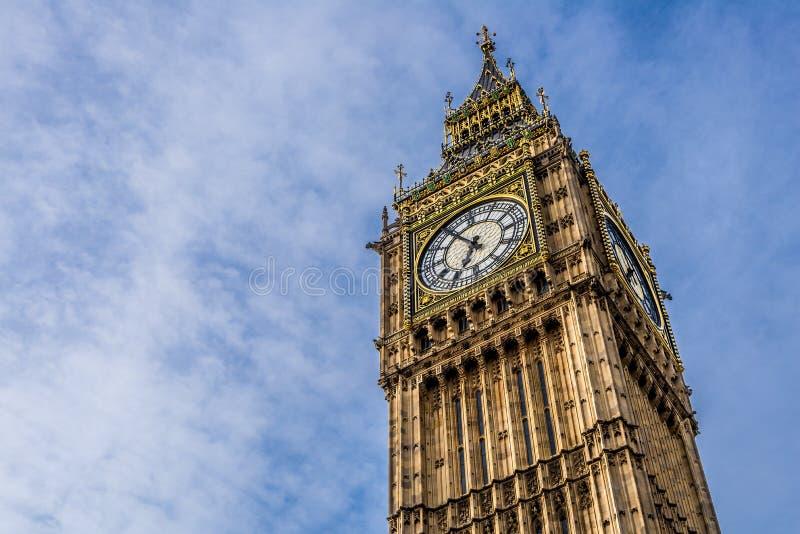 大本钟在伦敦,英国 库存照片
