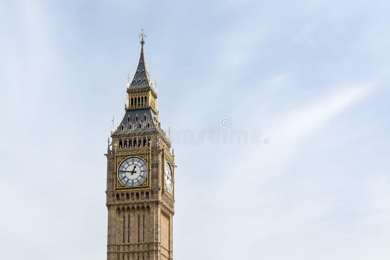 大本钟在伦敦 免版税库存照片