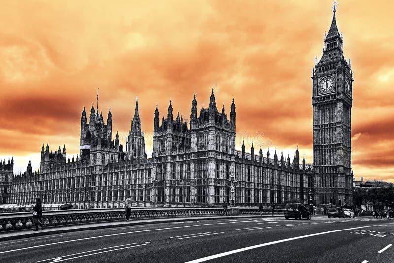 大本钟,伦敦 库存图片
