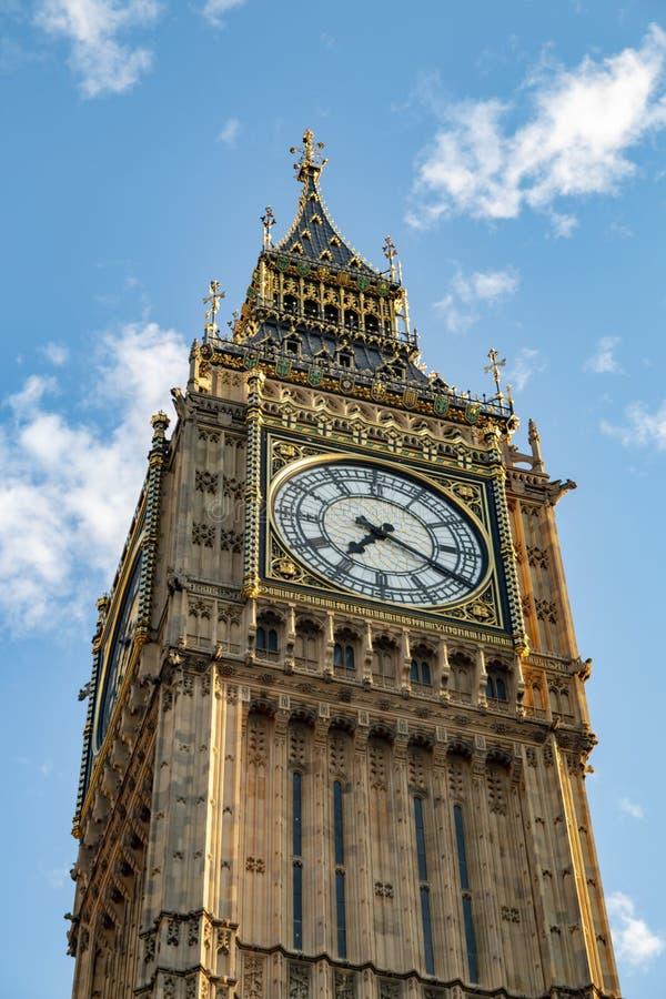 大本钟-在威斯敏斯特宫殿的塔的编钟 库存图片