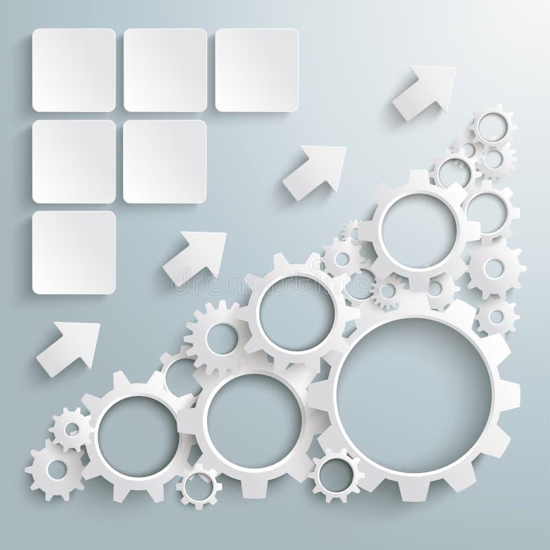 大机器白色齿轮图PiAd 库存例证