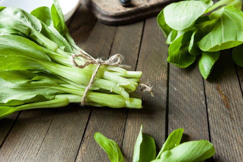 大束中国叶子圆白菜,朴崔 免版税库存图片