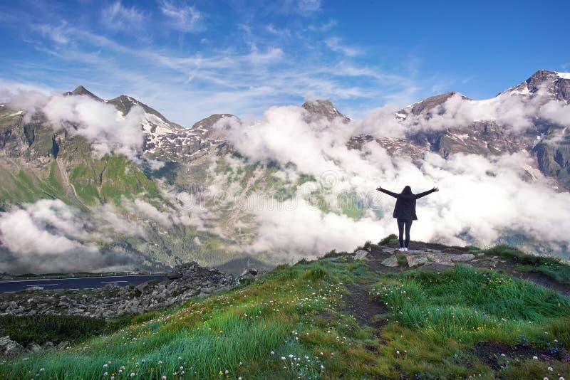 大格洛克纳山奥地利-山风景 免版税库存图片