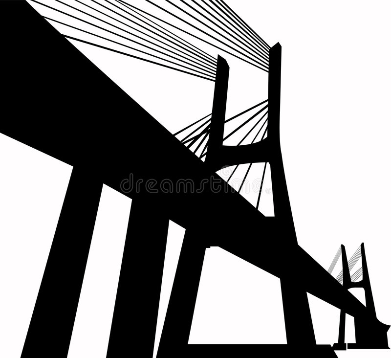 大桥梁 库存图片