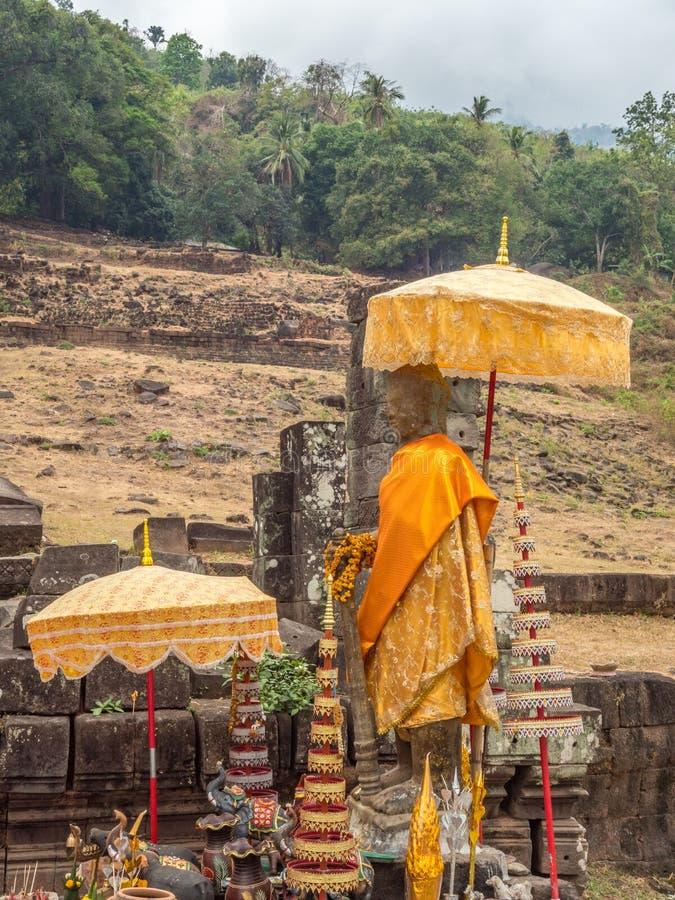 大桶Phou废墟 占巴塞省,老挝 免版税图库摄影