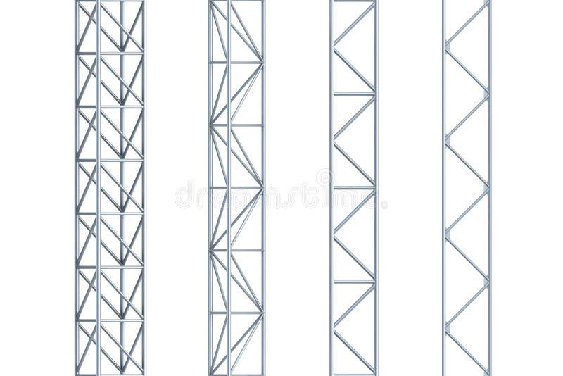 大梁无缝的钢 向量例证